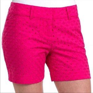 NWT The Limited Pink Eyelet Shorts